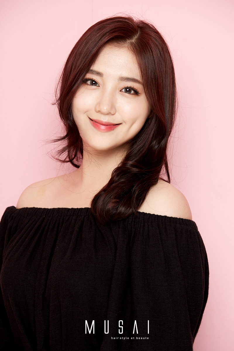 중간머리 레이어 C컬/핑크브라운